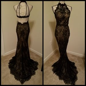 Black lace dress 00